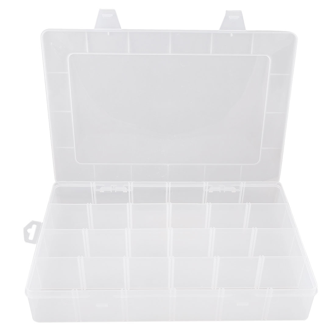 Plastic 24 Compartments Electronic Components Jewelry Storage Box Case Container