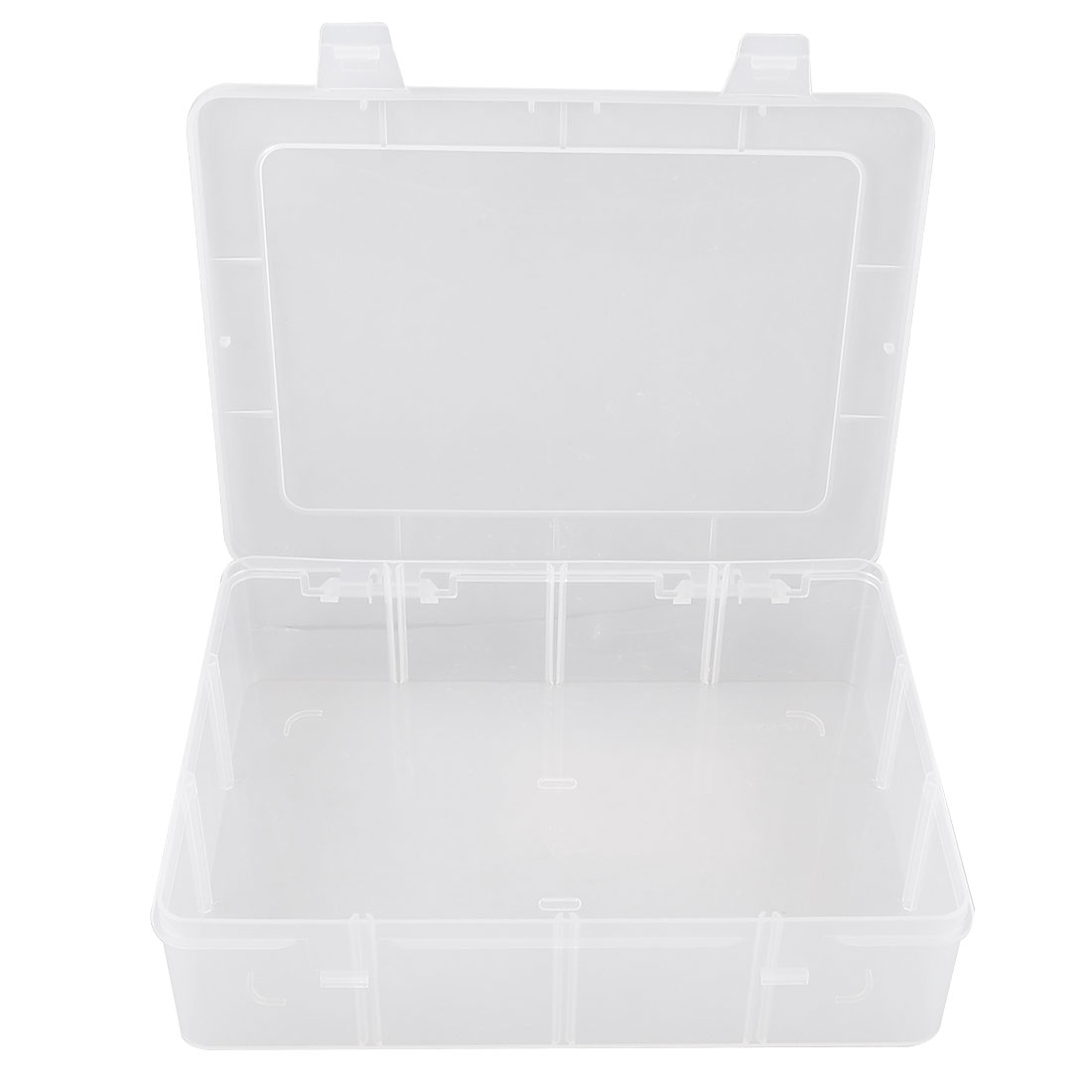 Clear Plastic Electronic Component Storage Case Holder 22.5cm x 16.5cm x 5.5cm
