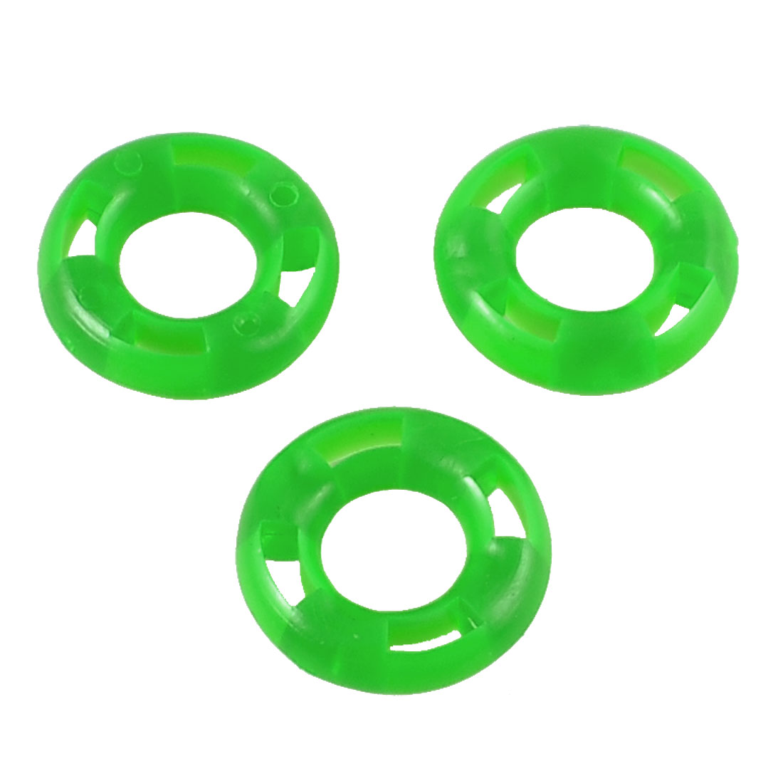 3 Pcs Green Flexible Rubber Fish Pole Stoppers Fishing O Rings 33mmx17mmx9mm