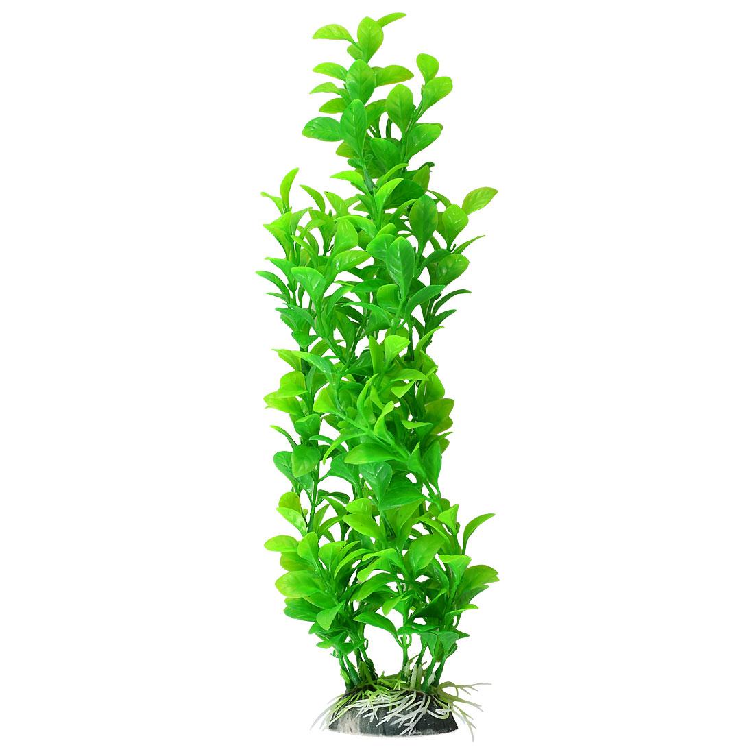 Decorative Artificial Plastic Green Leaves Aquarium Water Plants for Fish Tank
