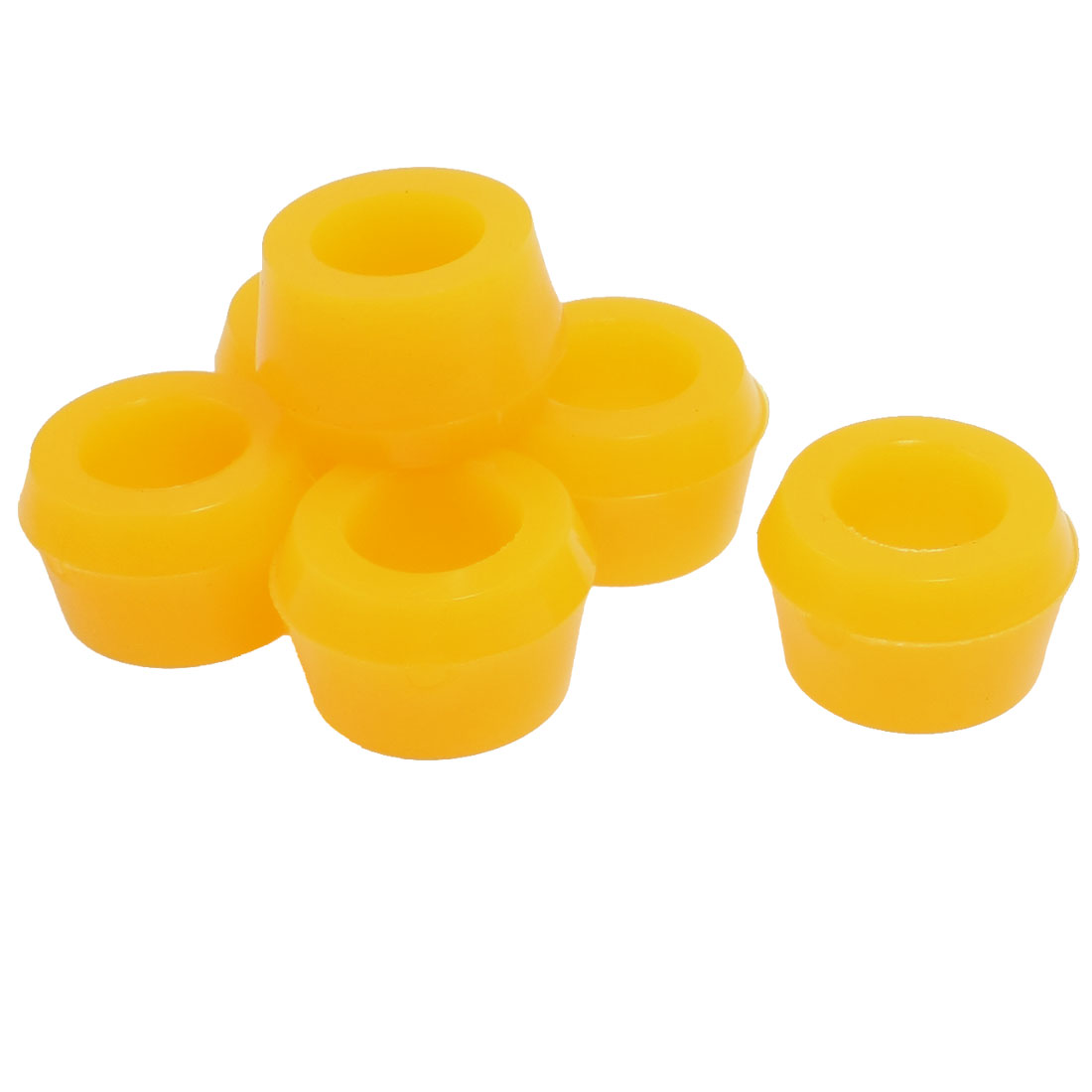 6 Pcs 19mm Inside Diameter Orange Rubber Shock Absorber Bushings Part