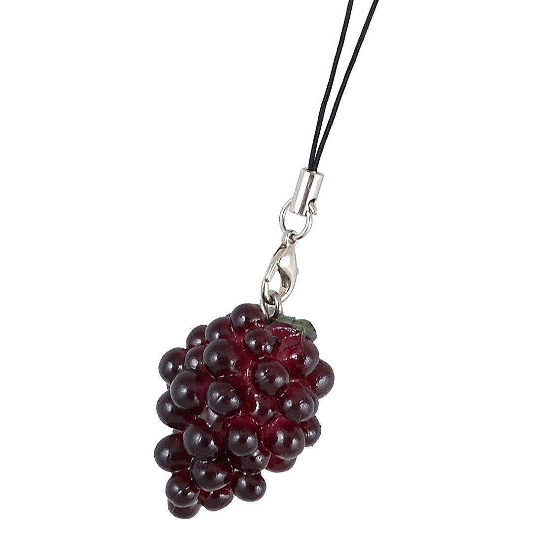 Dark Purple Plastic Grapes Pendant Strap String for MP3 MP4 Cell Phone