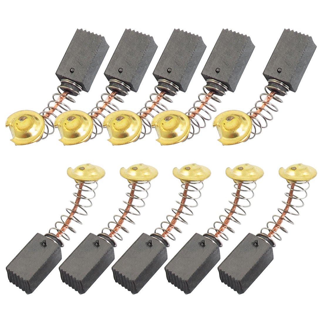 10 Pcs 13mm x 7mm x 6mm Power Tool Motor Parts Carbon Brush