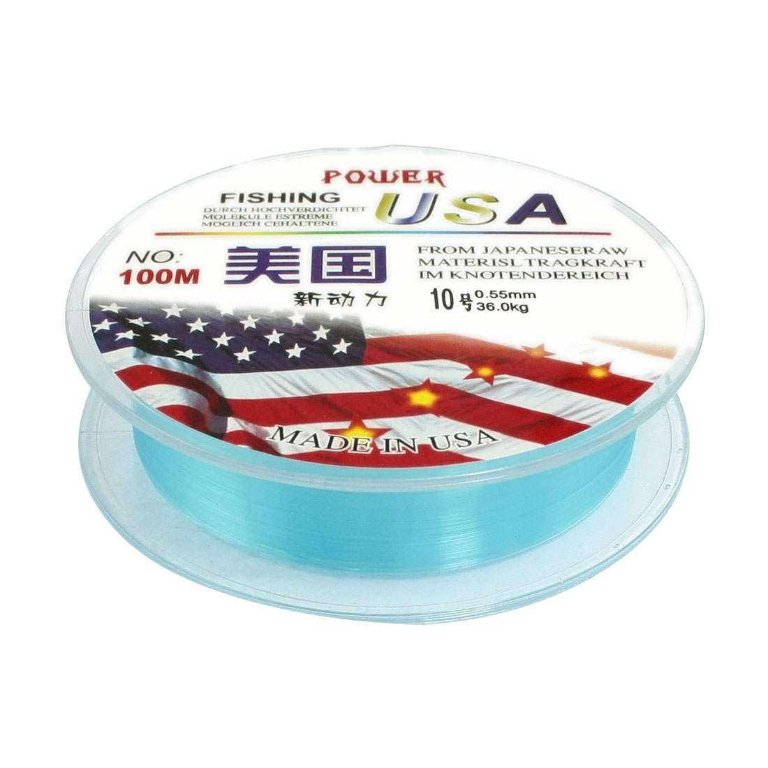 10# 0.55mm Diameter 100M Thread 36Kg 79.4lb Fishing Line Spool Blue