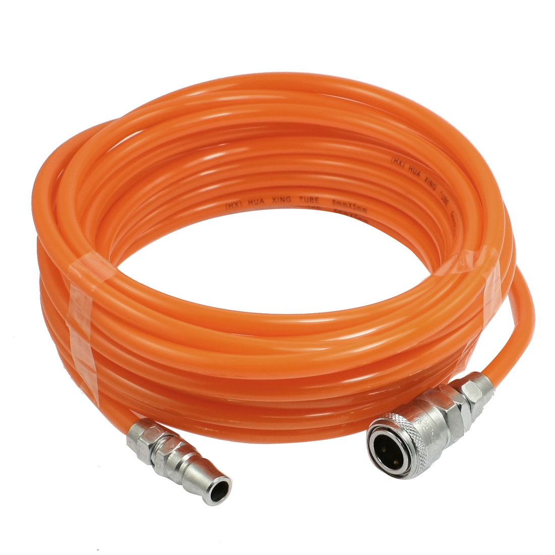 8mm x 5mm Polyurethane PU Air Compressor Hose Tube Orange Red 9M 29.5Ft