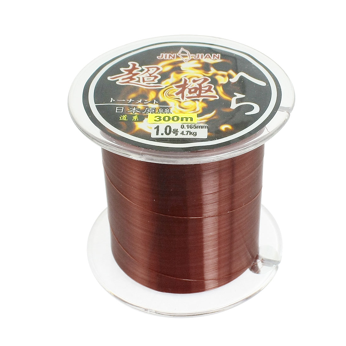 0.165mm Diameter 4.7Kg Burgundy Nylon Freshwater Fishing Spool Line 300 Meters