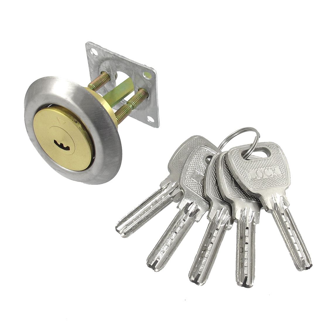 Cabinet Drawer Anti-Theft Deadbolt Cylinder Lock with 5 Keys