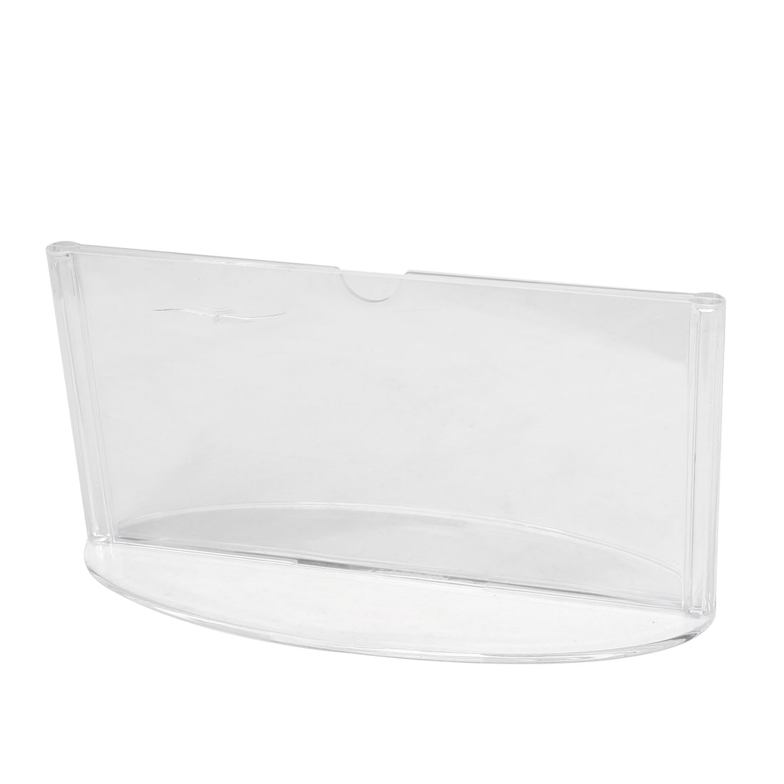 Oval Shapes Bases Clear Plastic Rectangle Table Display Holder 15cm x 7.5cm