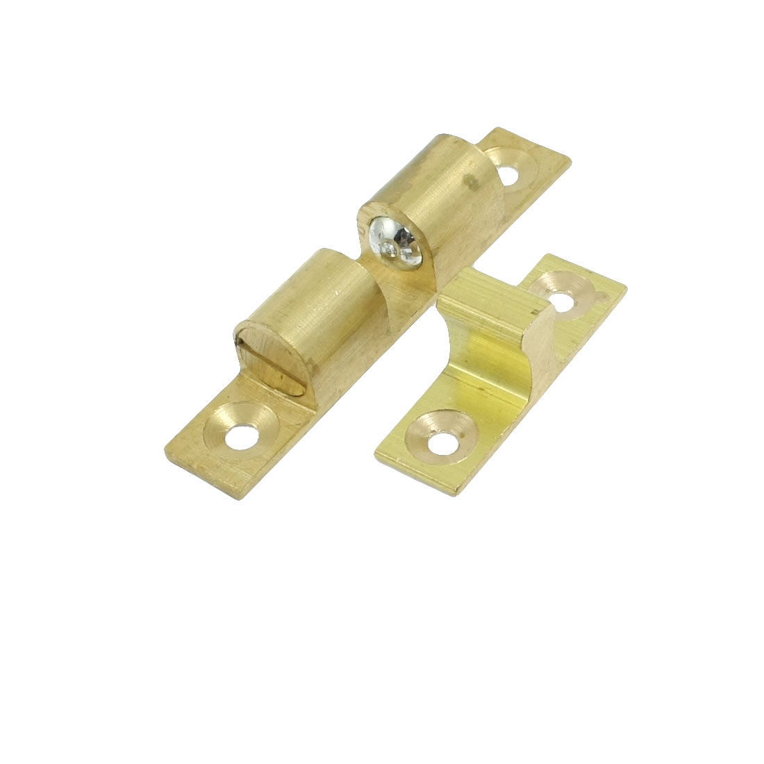 Home Door Latch Double Ball Catch 60mm Length Gold Tone