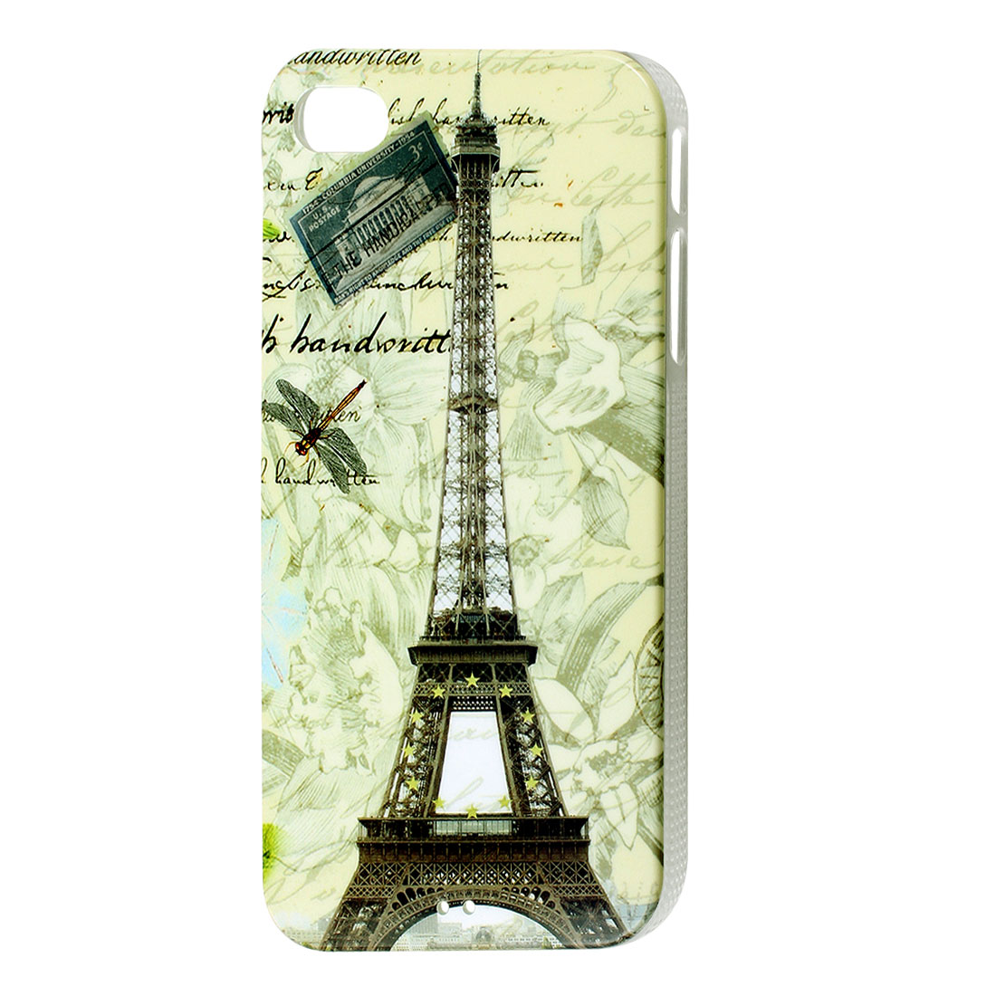 Dragonfly & Eiffel Tower Colorful Hard Back Case Cover for iPhone 4 4G 4S 4GS 4th