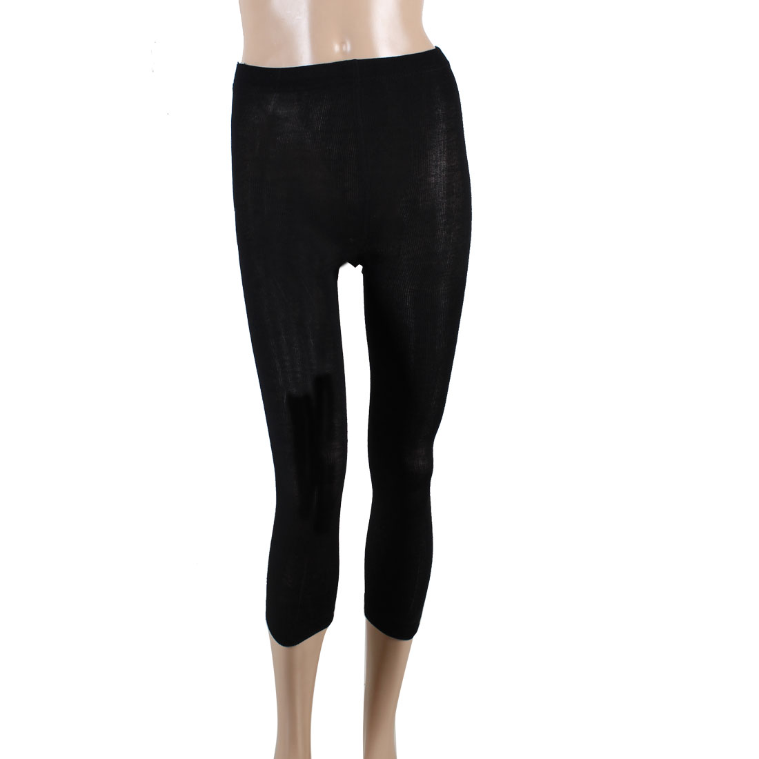 Ladies Autumn Warmers Black Elastic Waist Leggings XS