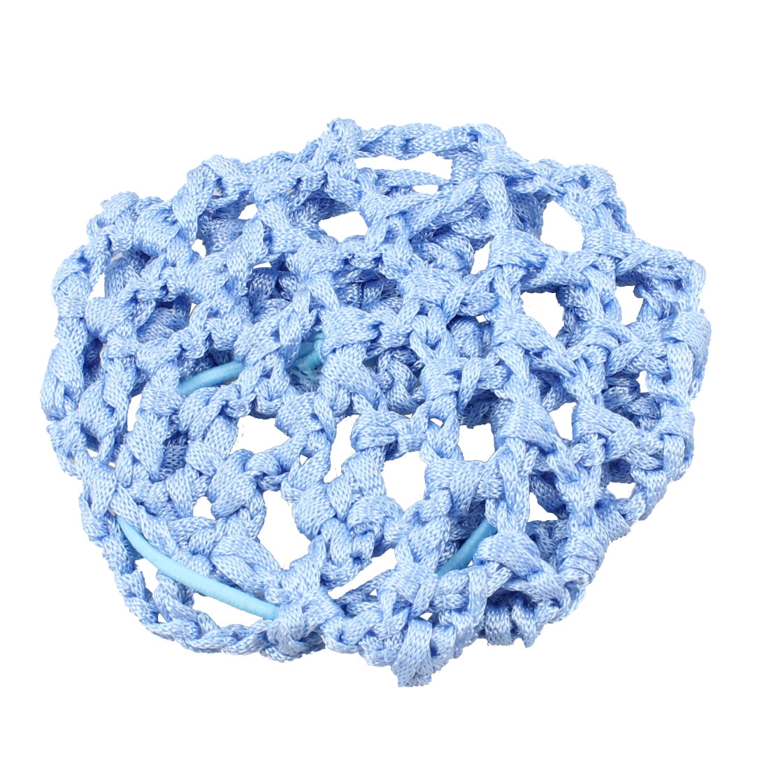 Lady Light Blue Elastic Rubber Band Mesh Hairnet Hair Ornament