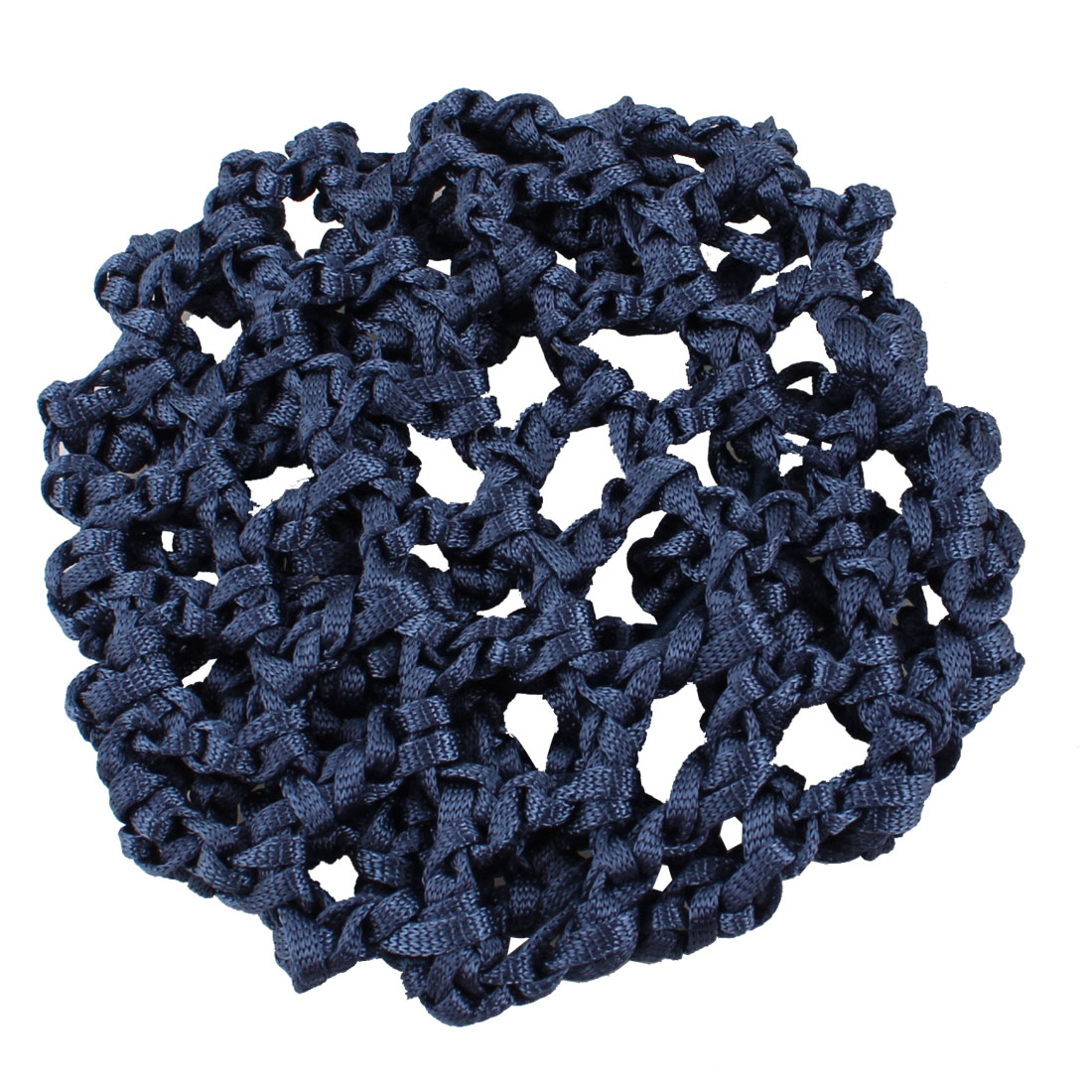 Lady Navy Blue Elastic Rubber Band Mesh Hairnet Hair Ornament