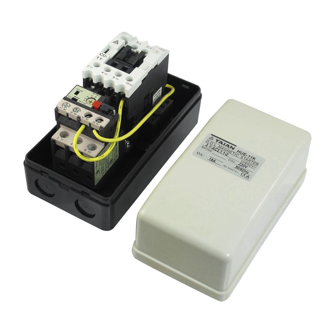 220V Coil AC Contactor 3 Pole Magnetic Starter Motor Control 12.5-18A
