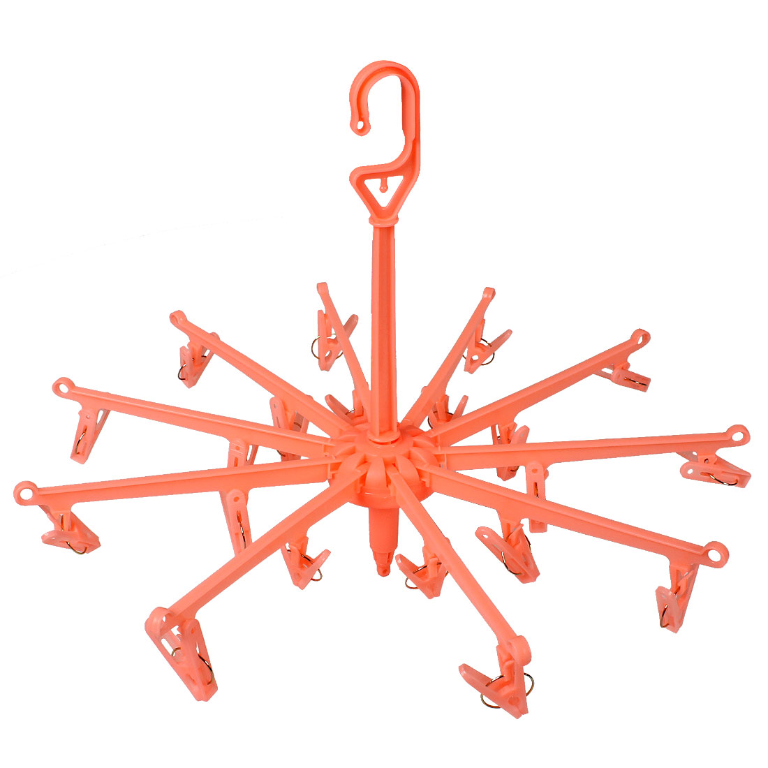 Home 20 Pegs Salmon Pink Plastic Scarf Underwear Clothes Hanger Clip