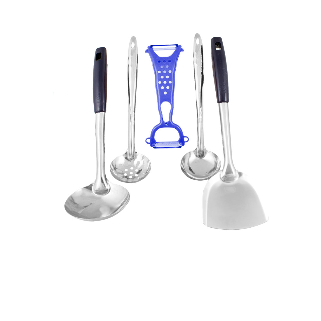 Hollow out Ladle Spatula Blue Fruit Vegetable Peeler Kitchen Ware Set 5 in 1