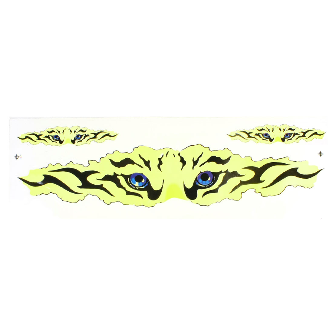 Yellow Black Tiger Eyes Pattern 2D PVC Sticker Decal for Truck Auto