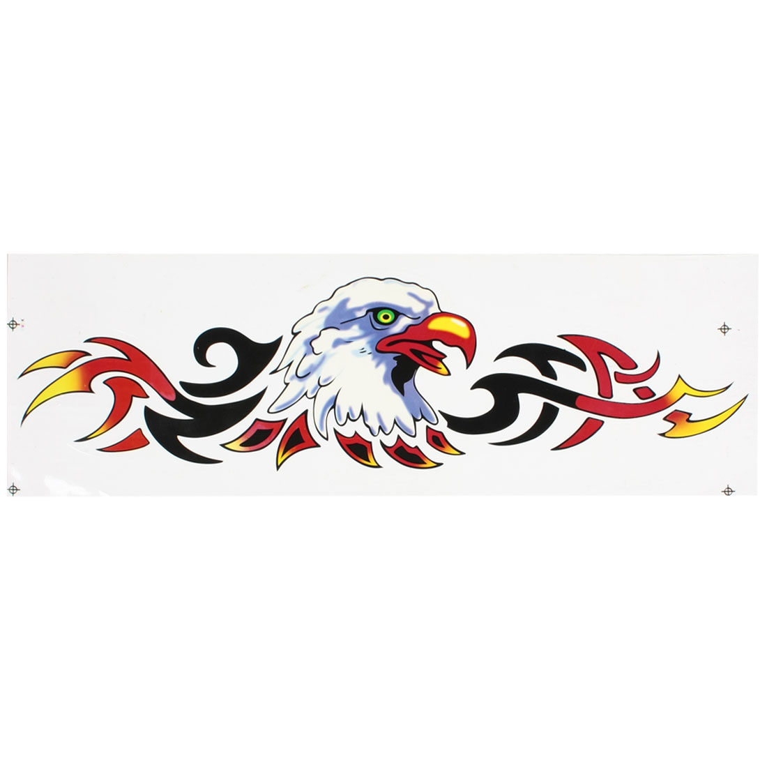 Black Red Eagle Head Style 2D Sticker Decal for Vehicle Auto