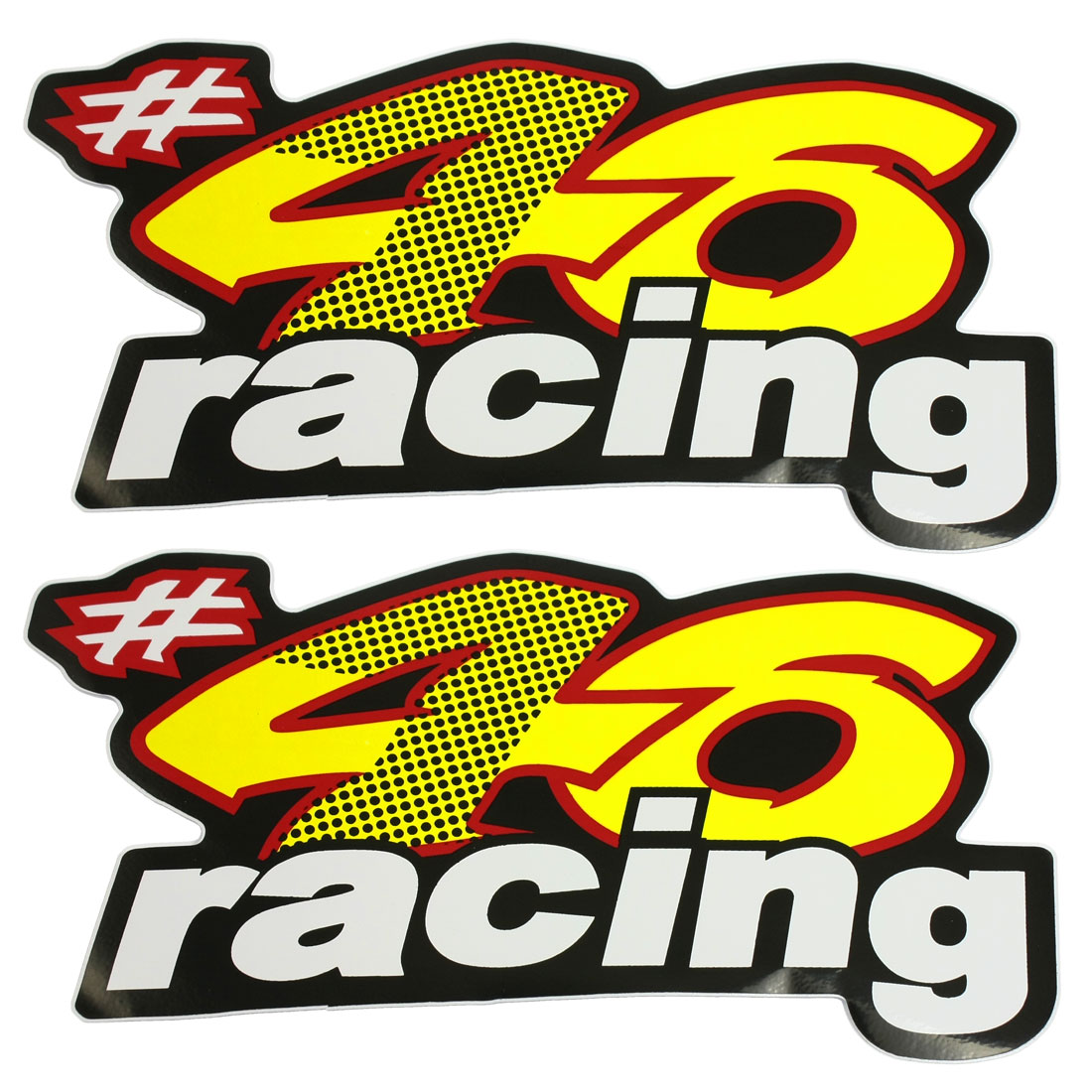 2 Pcs Colorful English Words Pattern Decorative Sticker for Race Car