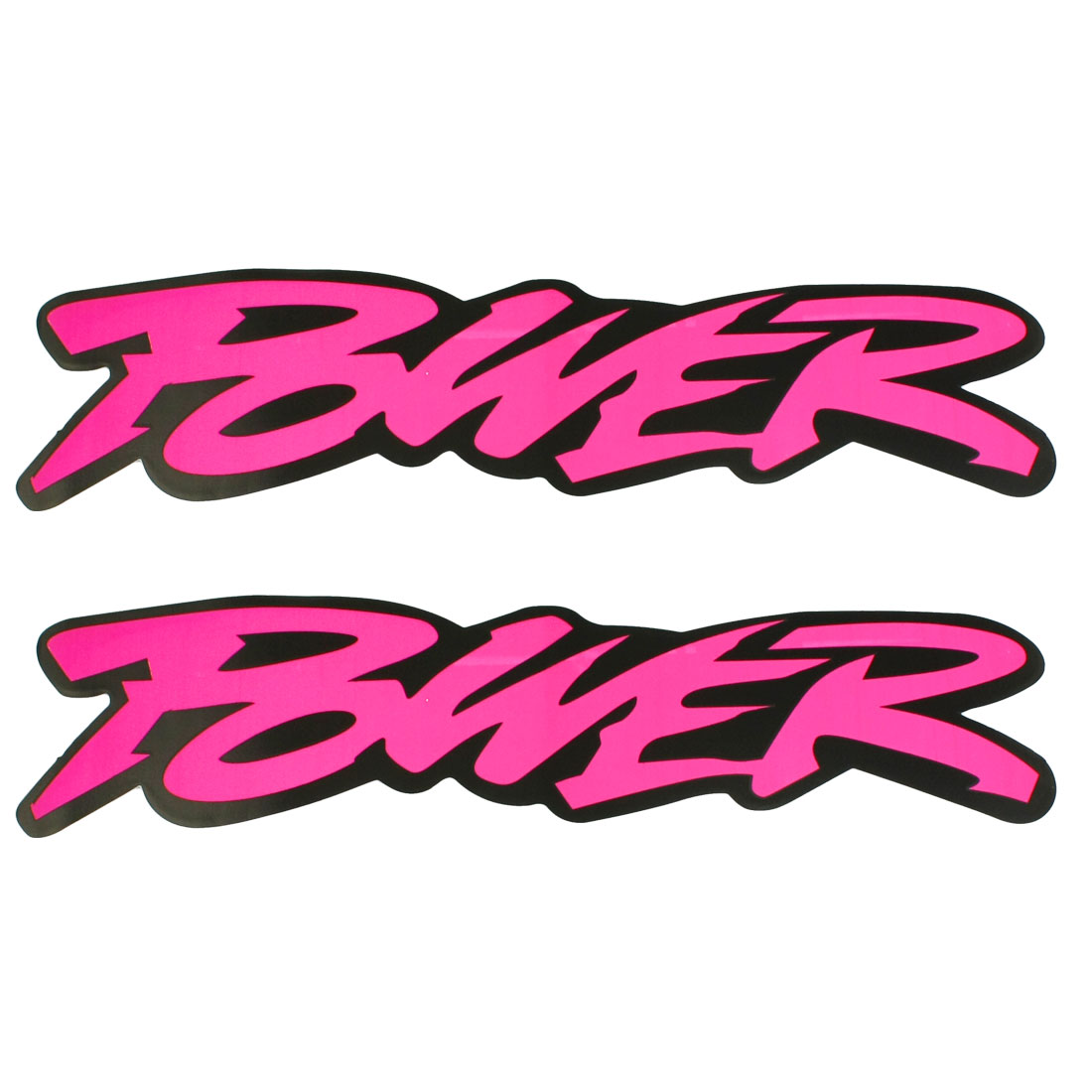 2 Pcs Magenta English Words POWER Decorative Sticker for Race Car