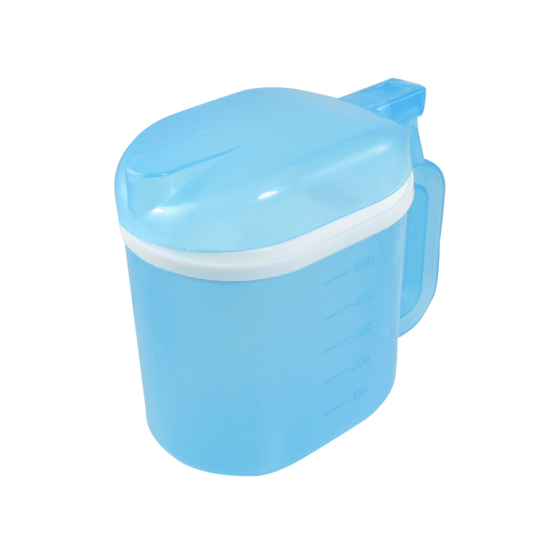 Kitchen 500ml Capacity Blue Clear Plastic Vinegar Oil Pot Holder