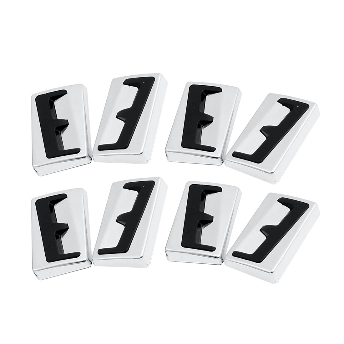 8 Pcs Adhesive Auto Car Door Bumper Guard Sticker Silver Tone Black