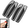 4 Pcs Black Gray Plastic Adhesive Auto Car Door Bumper Guard Sticker