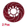 2 Pcs Auto Car Decorative Aluminum Disc Brake Rotor Cover Red