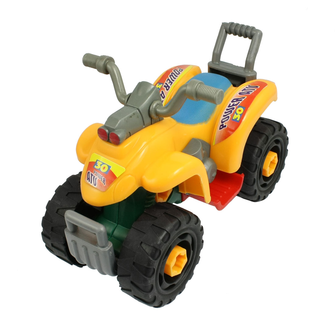 Yellow Black Green Plastic Detachable Cartoon Sand Motorcycle Toy for Child