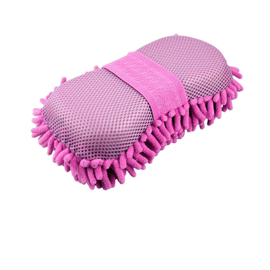 Car Wax Wash Sponge Gloss Magenta Microfiber Chenille Cleaning Pad