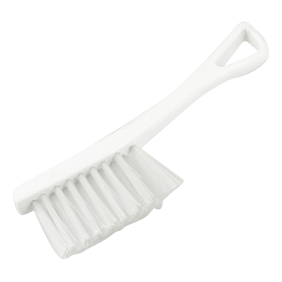 Vehicle Car Cleaning White Plastic Grip Scrubbing Brush