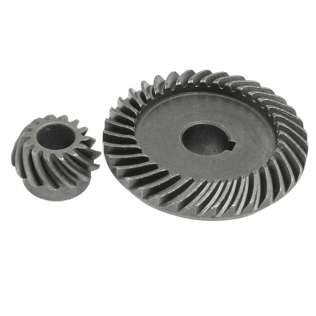 2 Pcs Repair Parts Gray Metal Angle Grinder Gear for LG 100 TGC-100SA