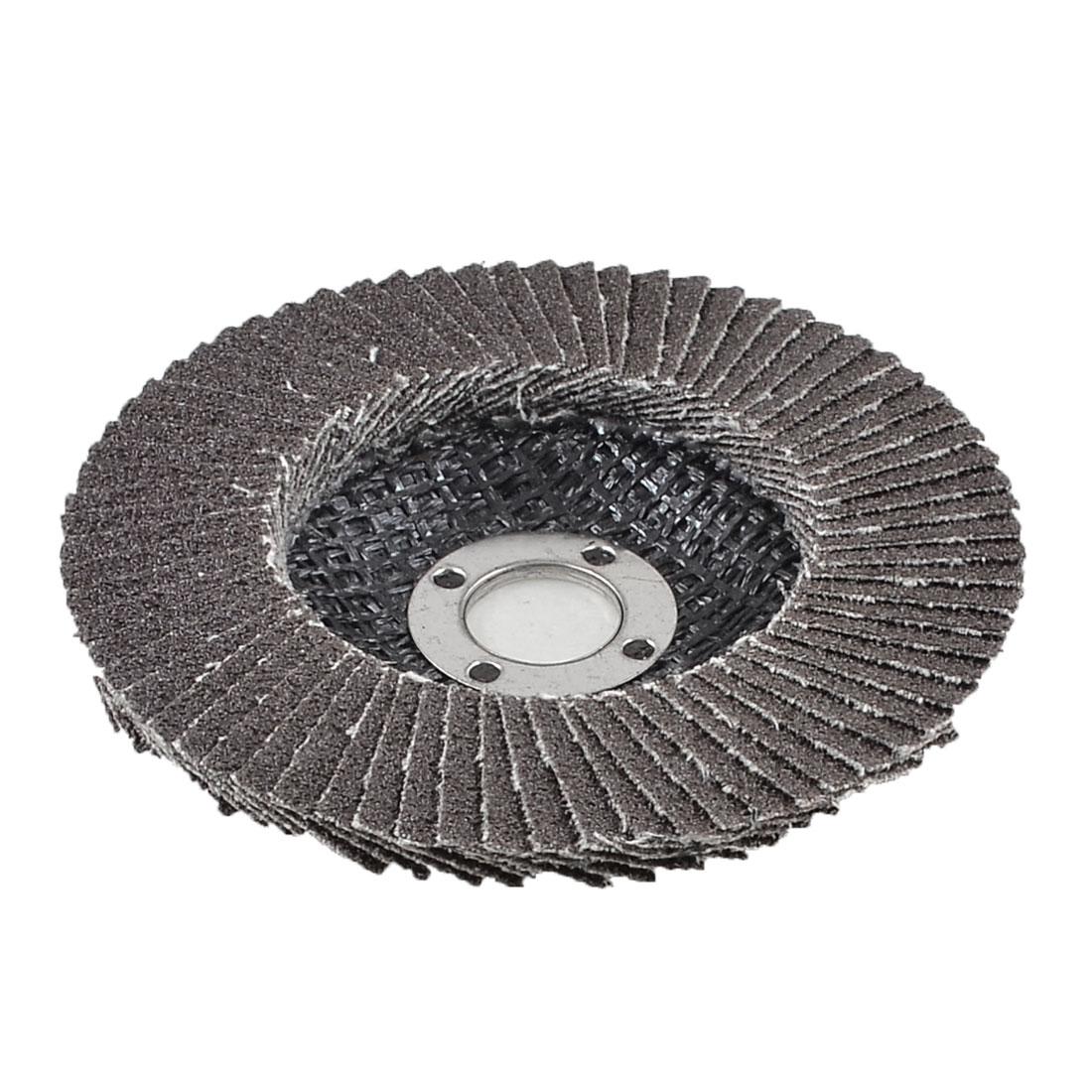 Single Side 16mm Inner Dia 80# Grit Abrasive Flap Sanding Disc Buffing Wheel