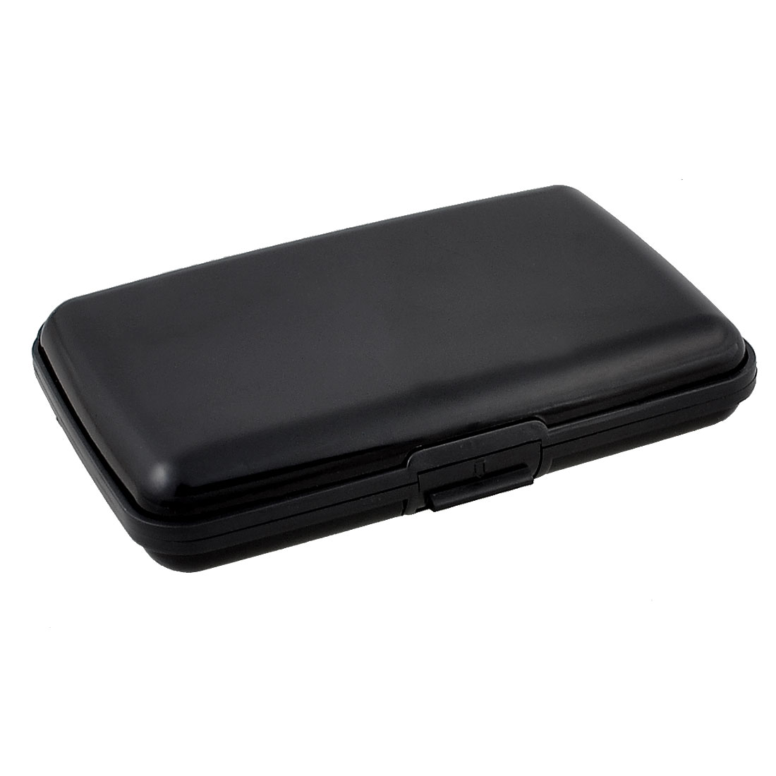 Portable Rectangle Black Alloy 6 Pockets Credit Card Holder Case Protective Box