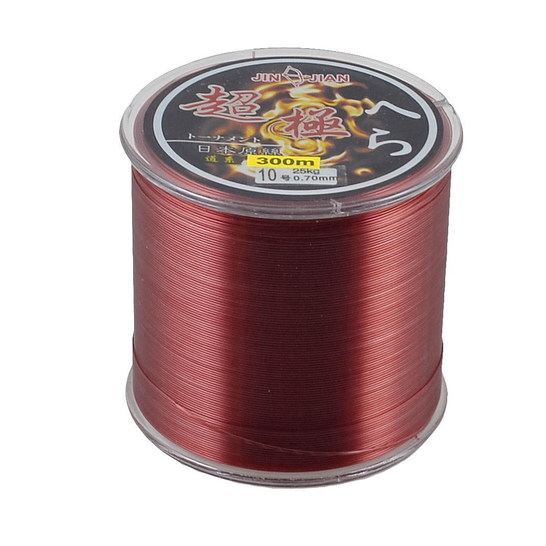 300m 0.70mm Dia 25Kg Burgundy Nylon Abrasion Resistance Fishing Spool Line 10#