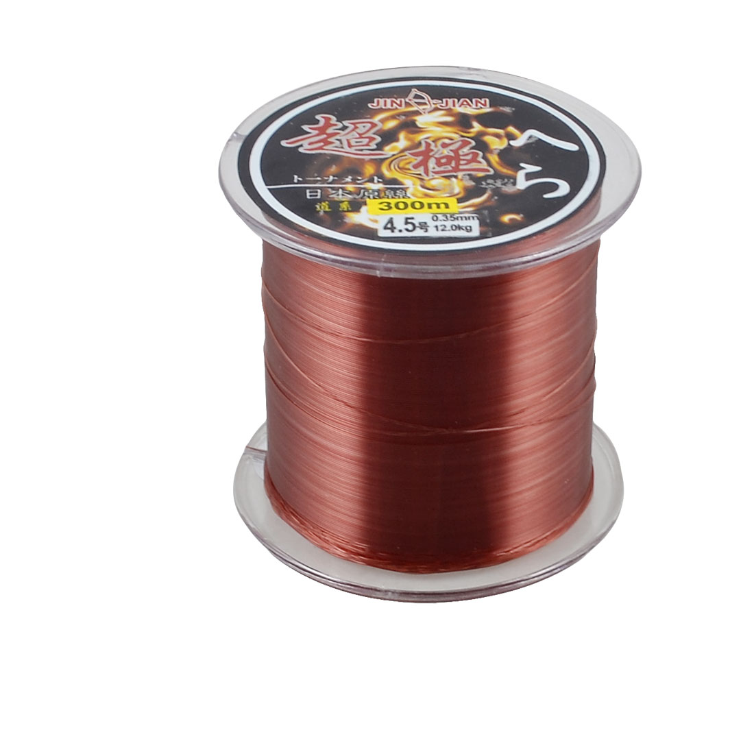 300m 0.35mm Dia 12Kg Burgundy Nylon Abrasion Resistance Fishing Spool Line 4.5#