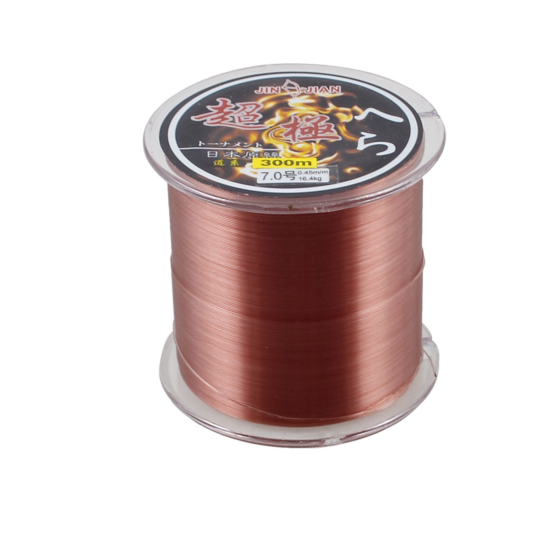 7.0# 0.45mm Diameter 16.4Kg 36.2LB Burgundy Nylon Fishing Line Spool 300M 984Ft