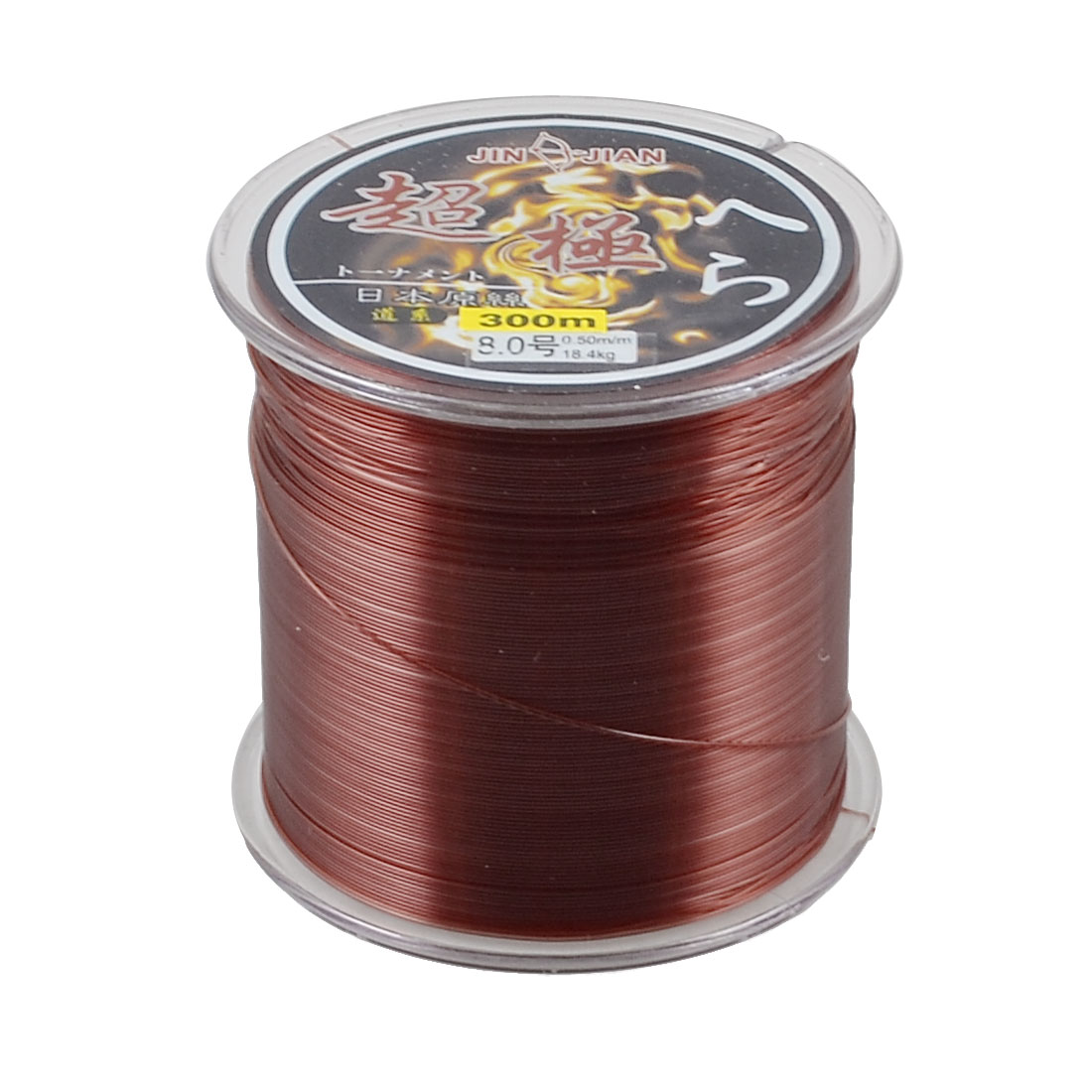 0.50mm Dia 18.4Kg Burgundy Nylon Freshwater Fishing Line Thread Reel 300M 8.0#
