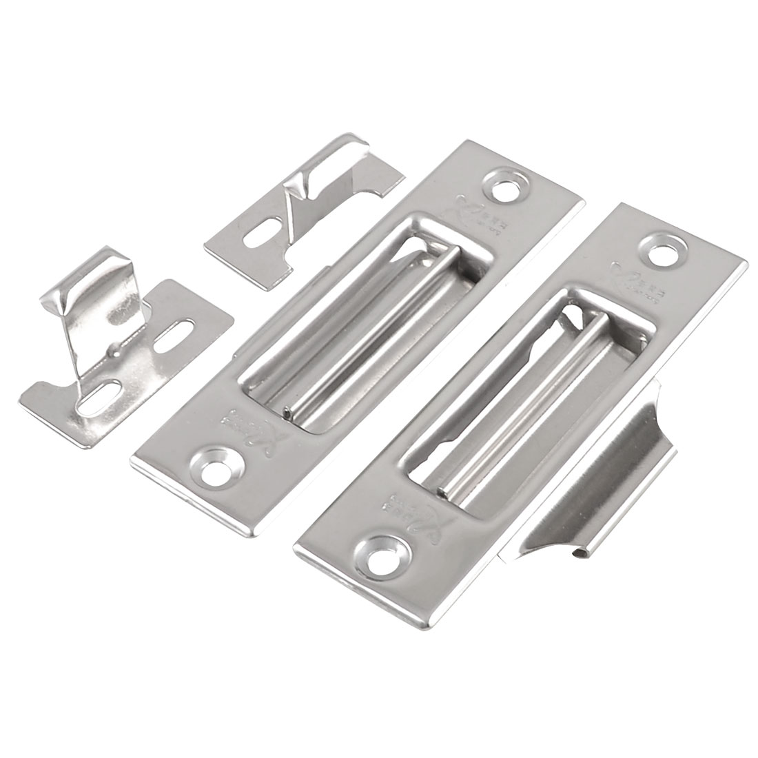 House Hardware Silver Tone Stainless Steel Door Window Latch Lock Barrel Bolt