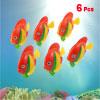 Aquarium Tank Artificial Plastic Swimming Fish Decoration Red Yellow 6 Pcs