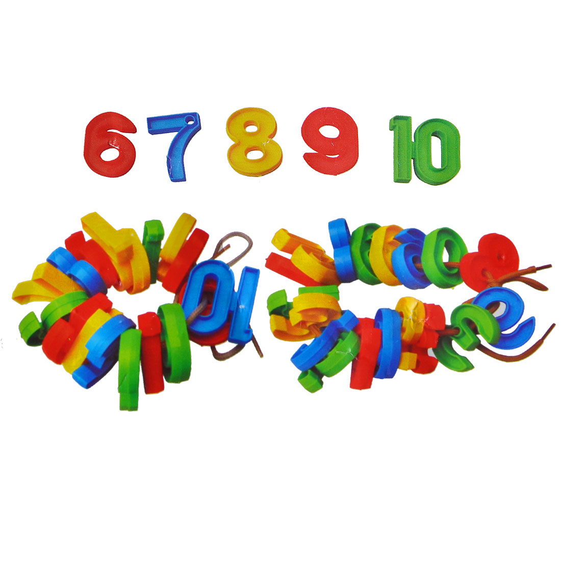 Children Assorted Color Plastic Early Education Arabic Numbers Toy 200 in 1