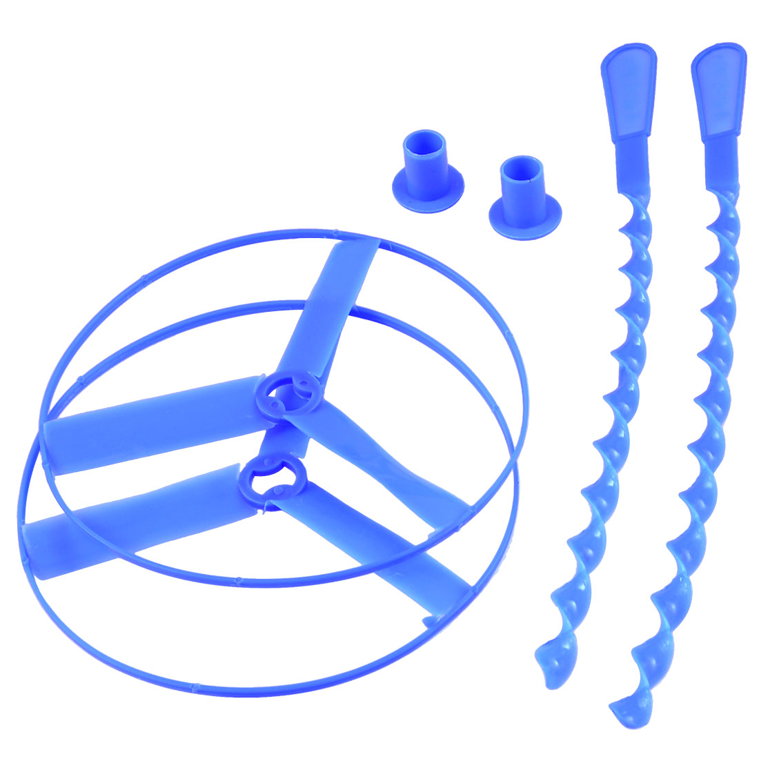 2 Pcs Hand Spinning Shooter Flying Saucer Disc Play Toy Blue for Kids