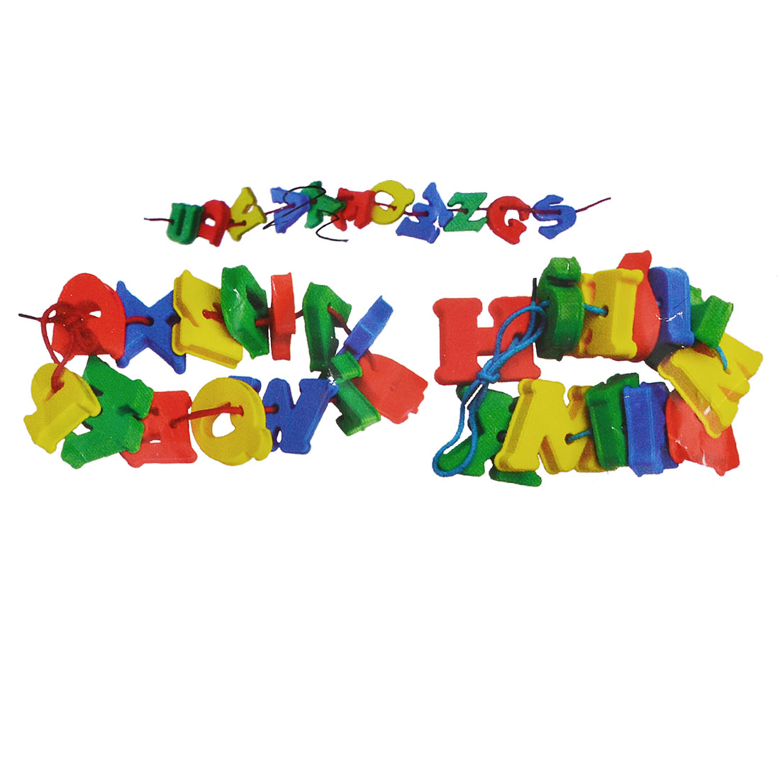 Kids Intelligence Training Plastic Multicolor A-Z English Letters Toy 104 in 1