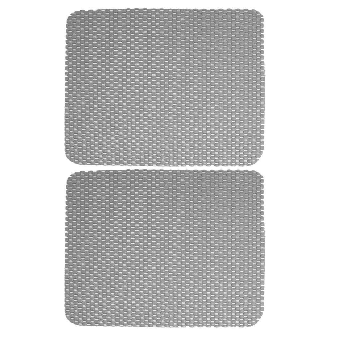 2 Pcs Gray Woven Pattern Car Dashboard Phone Holder Nonslip Mat Pad