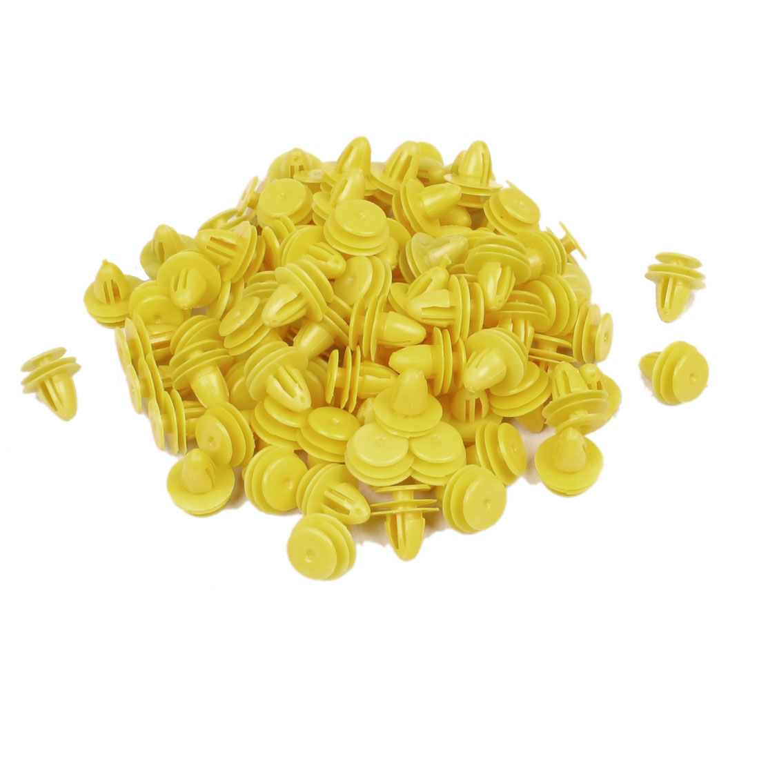 100 Pcs Auto Vechile Repair Part Interior Trim Panel Plastic Clip Yellow