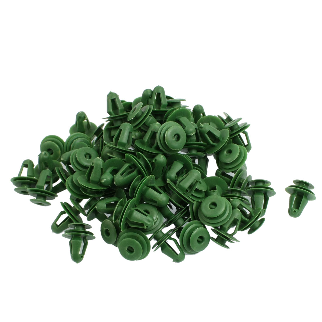 100 Pcs Green Plastic Fender Rivets Fasteners for Vehicle Truck