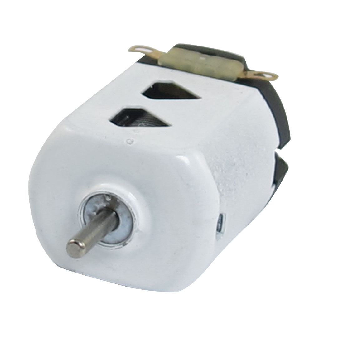 1.5V DC 9000RPM 400mA White Black Flat Electric 130 Motor for Four-wheel Car