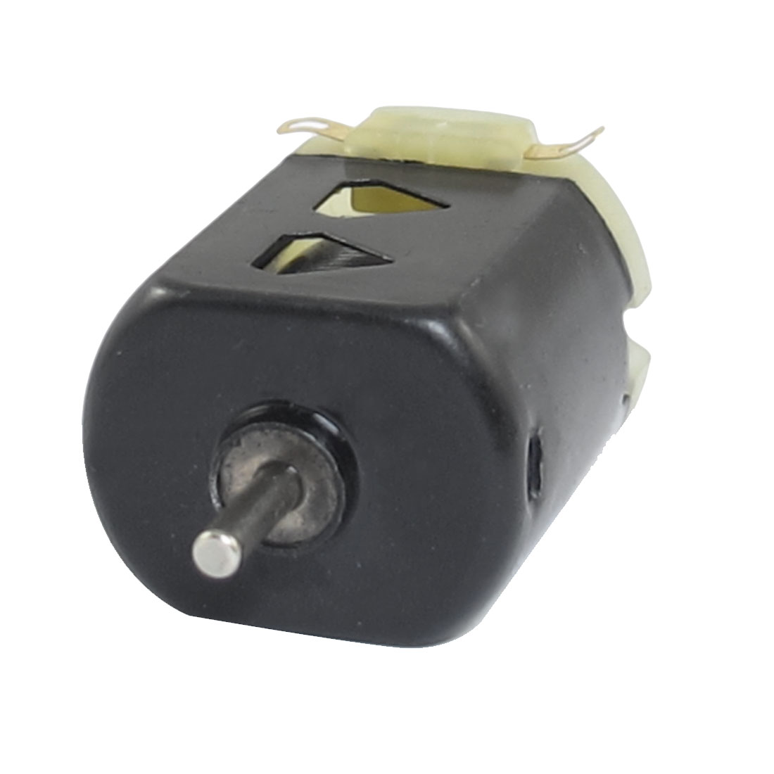 1.5V DC 9000RPM 400mA Black Flat Electronic 130 Motor for Four-wheel Car