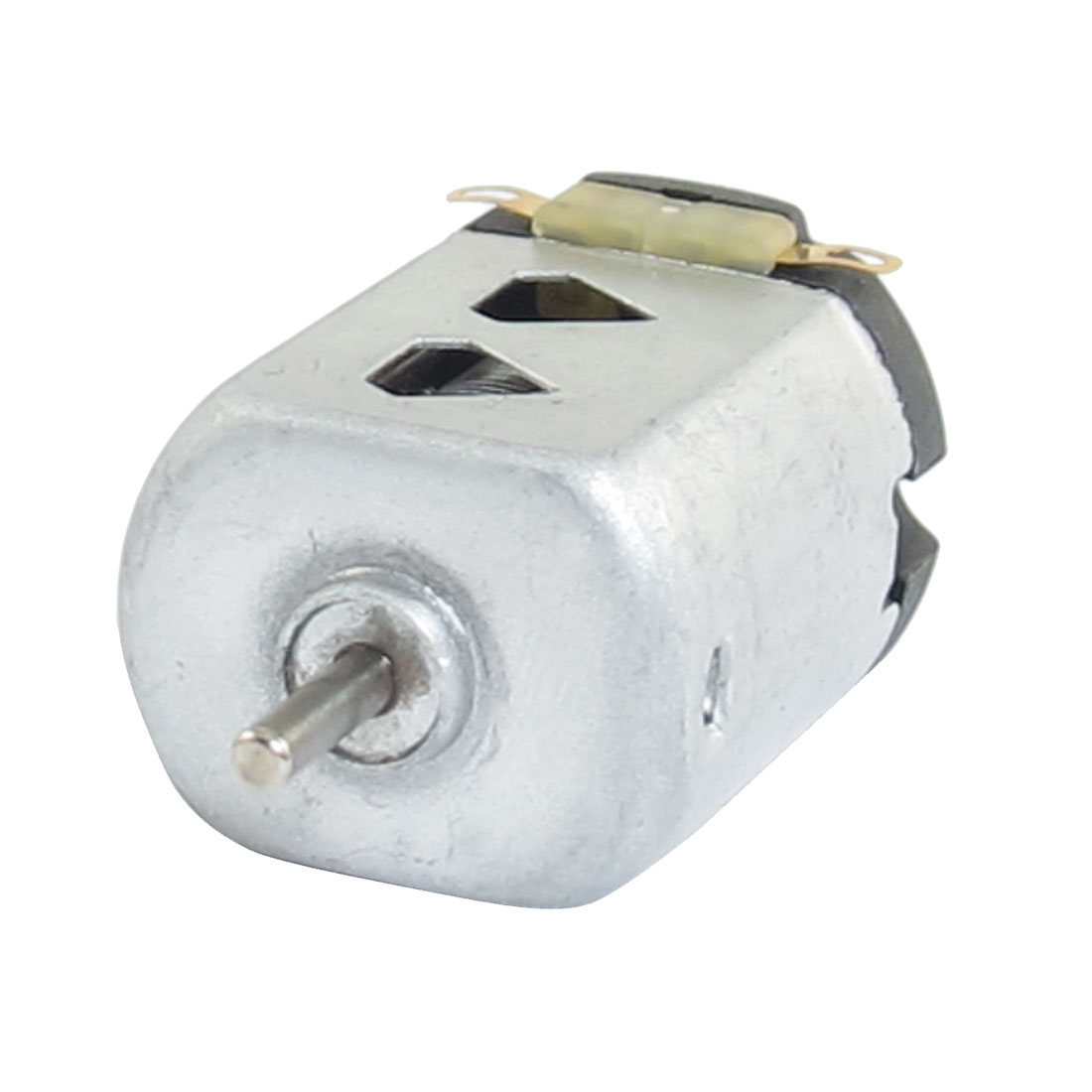 1.5V DC 9000RPM Silver Tone Flat Electric 130 Motor for Four-wheel Car