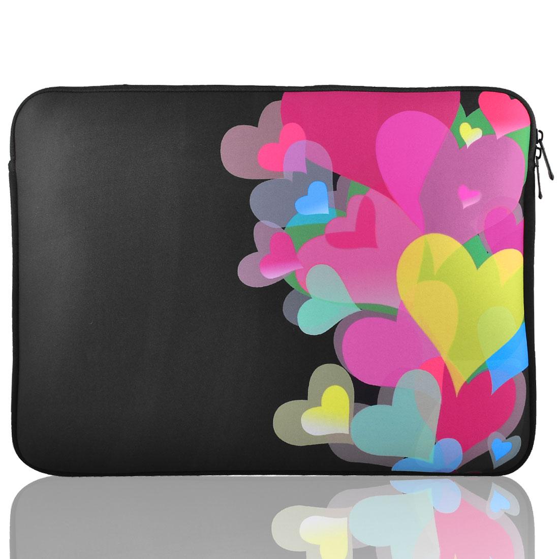 """15"""" 15.4"""" 15.6"""" Heart Print Neoprene Notebook Laptop Sleeve Bag for HP Pavilion"""